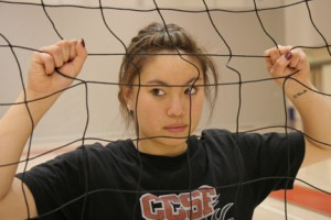 Volleyball Captain Amanda Ly loves the game of volleyball and is looking forward to great season.