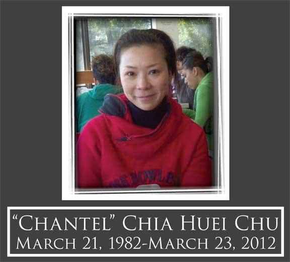 Photo courtesy of Cathy Zang, friend of Ms. Chu