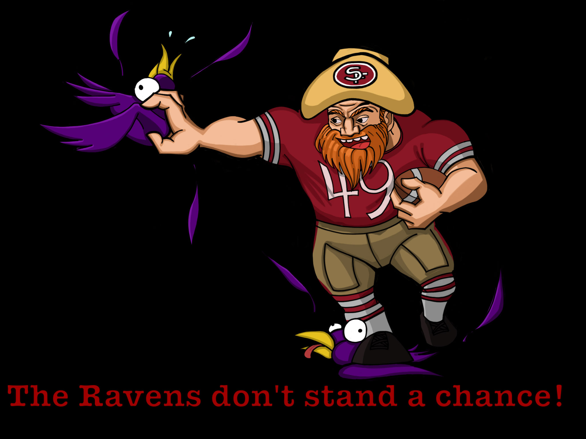 Editorial Cartoon The Ravens Dont Stand A Chance The Guardsman