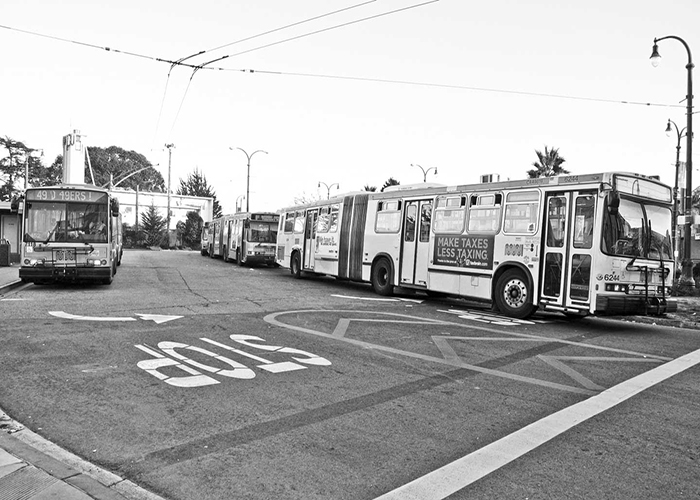 The Phelan Loop has a proposed renovation to make it a more efficient Muni terminal. Ocean and Phelan Ave on Feb 1, 2013. Photo By Shane Menez/The Guardsman