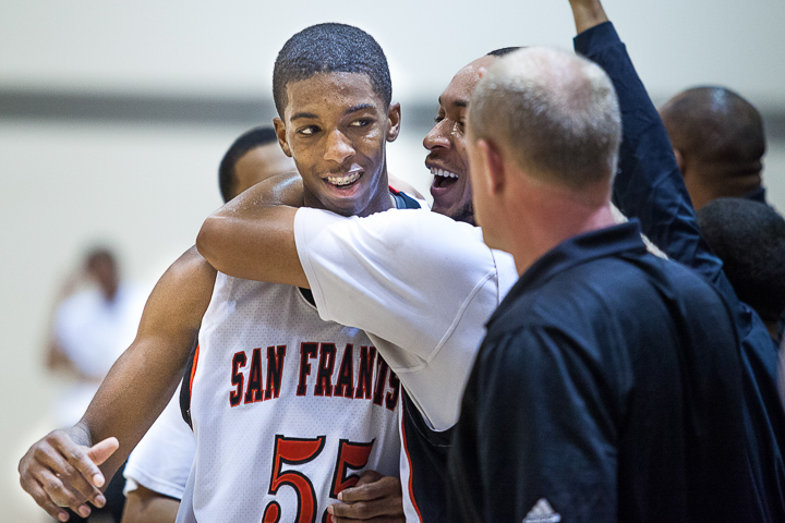 Delon Wright (left) and the Rams defeat Santa Rosa College 88-54 at Ocean campus on March 9, 2013. Photo by Santiago Mejia / The Guardsman.