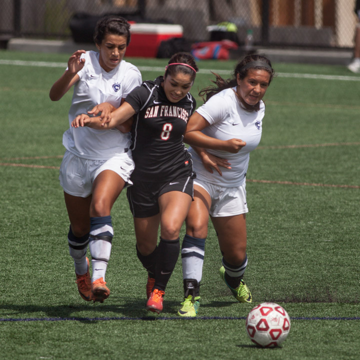 Rams women's soccer team win first home game