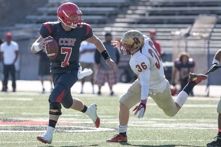 Slideshow: Football team beats De Anza College Dons