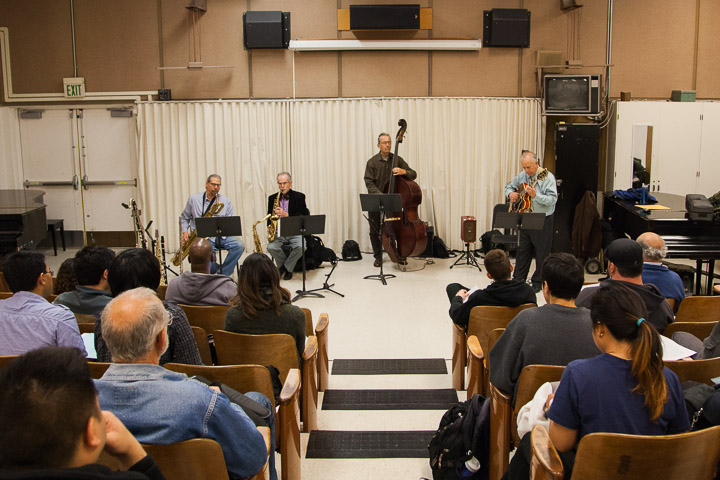 Instructor's love for jazz music is apparent during recent live show