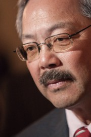 San Francisco Mayor Ed Lee speaks to reporters on March 21, 2013 on City Hall, San Francisco, Calif. Photo by Santiago Mejia/The Guardsman