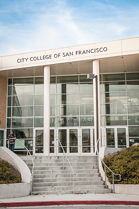 The front of the City College of San Francisco's We;;ness Center on Ocean campus, Monday, Dec. 2, 2013. Photo by Santiago Mejia/The Guardsman