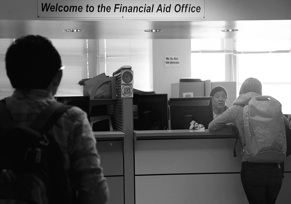 Financial aid office, Tuesday, April 8, 2014. Photo by Elisa Parrino