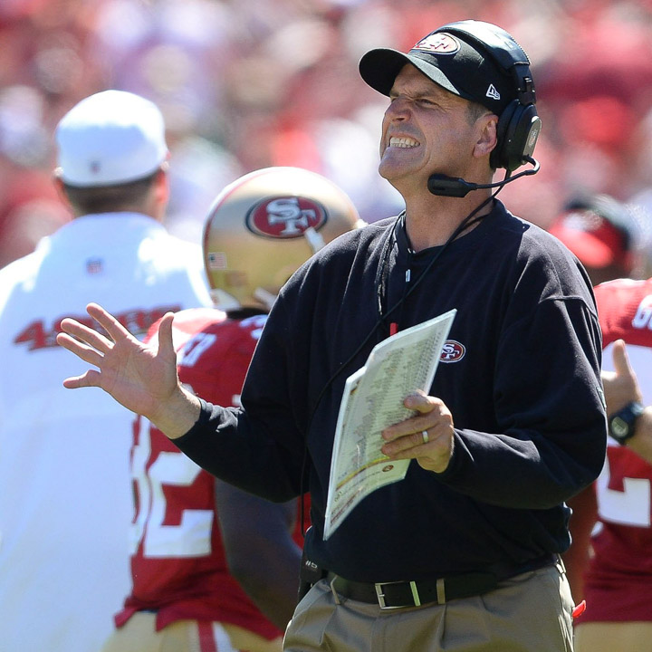 San Francisco 49ers coach Jim Harbaugh. Photo courtesy of MCT campus