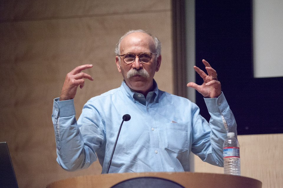 Ken Light discusses his work at a panel discussion at the Koret Auditorium in the San Francisco Public Library Main Branch on Tuesday, August 12, 2014.
