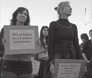 Protesters march against sexual assault. (File photo by Francesca Alati)