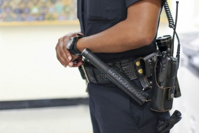City College campus police may only carry batons and pepper-spray weapons. (Photo by Nathasha Dangond)