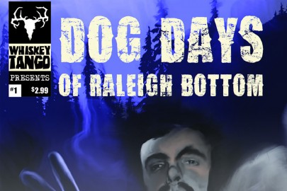 "The cover of ""Dog Days of Raleigh Bottom,"" the art is by Rhett Johnston."