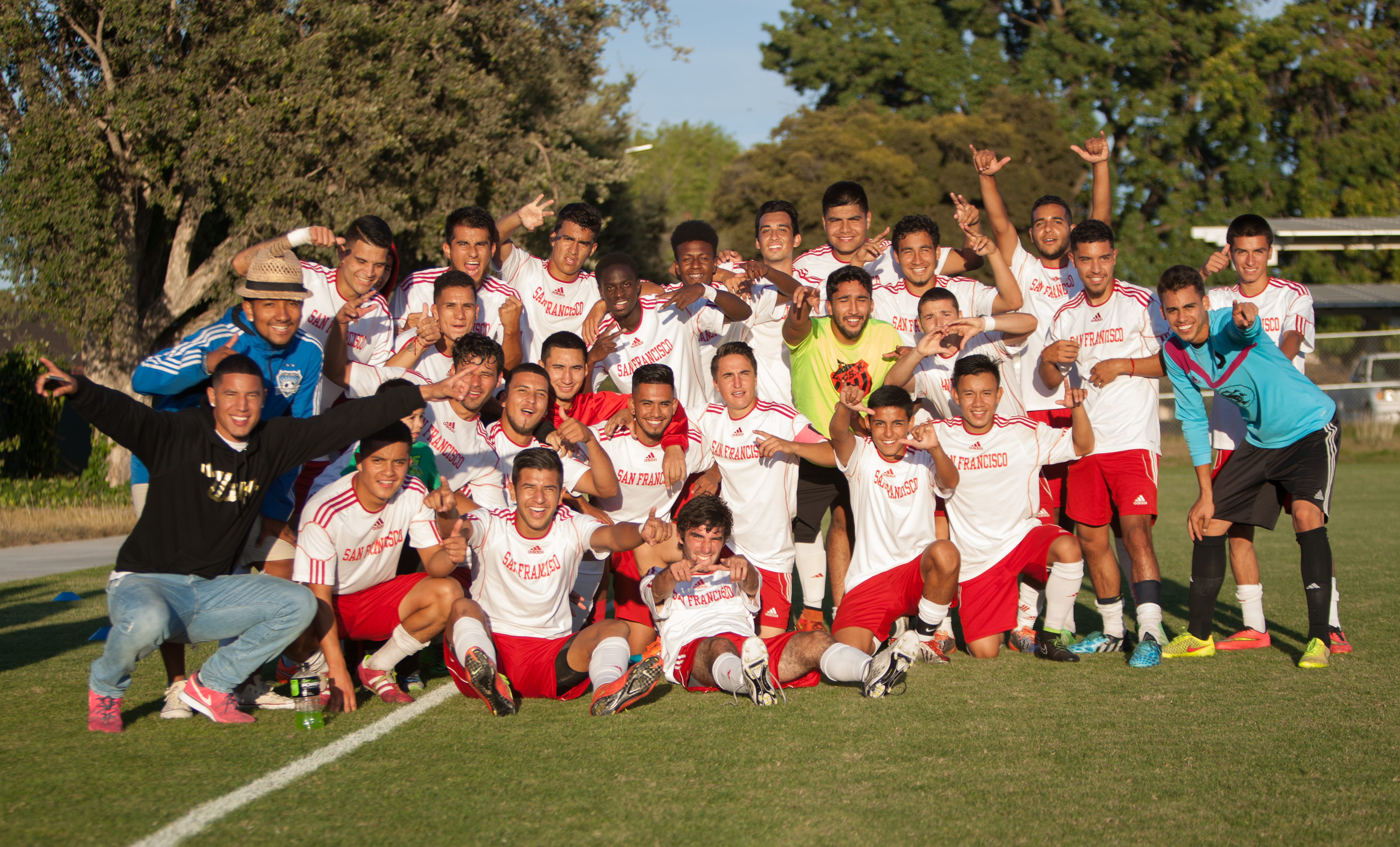 City College Rams celebrate the win, Friday, Oct. 10. (Photo by Khaled Sayed)