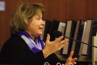 ACCJC President Barbara Beno takes the witness stand during Day 2 of the Superior Court Trial concerning City Collehge's accreditation on Tuesday, Oct. 28, 2014. (Photo by James Fanucchi)