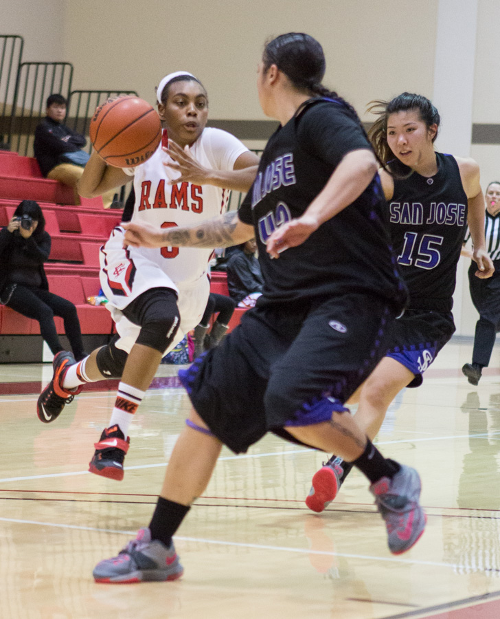 City College Women's Basketball defeats San Jose City College 67-48. Feb. 6, 2015. Photo by Khaled Sayed