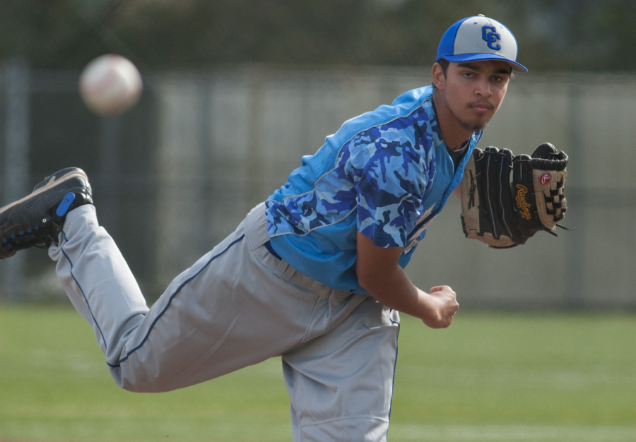 City College vs. Contra Costa College baseball game on Feb. 5, 2015 Photo by Khaled Sayed