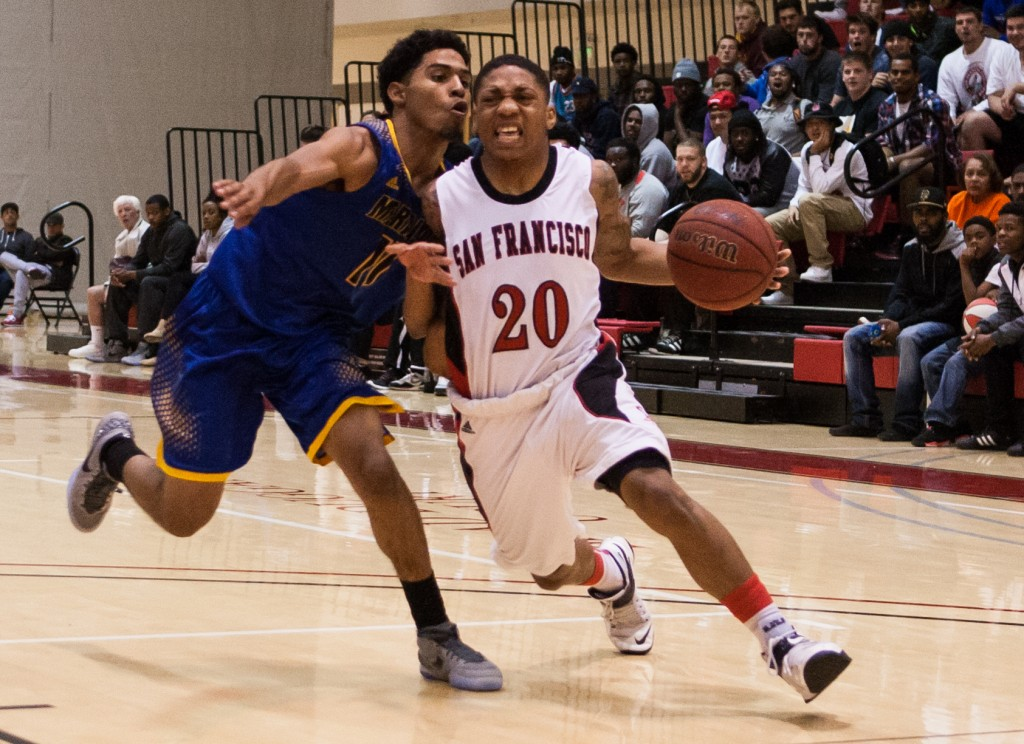 City College Men's basketball and Merritt College during the Regional Semi-finals. March 04, 2015 Photo by Khaled Sayed