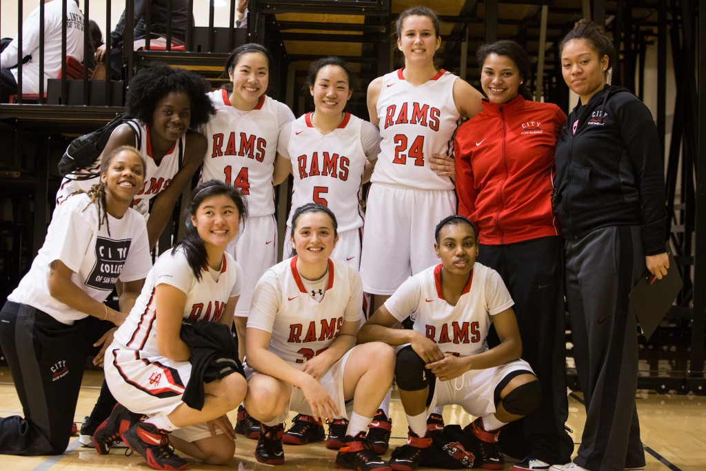 City College Women's Basketball team. Photo By Khaled Sayed