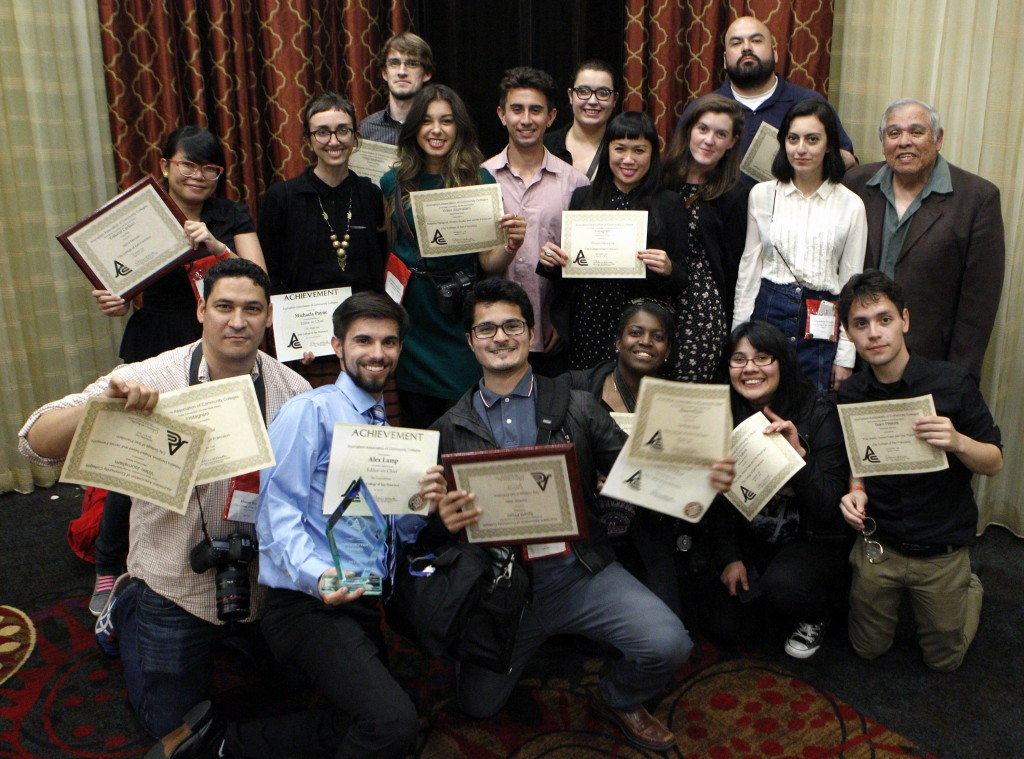 City College's Journalism Department received 22 awards from Journalism Association of Community Colleges at the 2015 JACC State Convention in Sacramento on Saturday, April 11