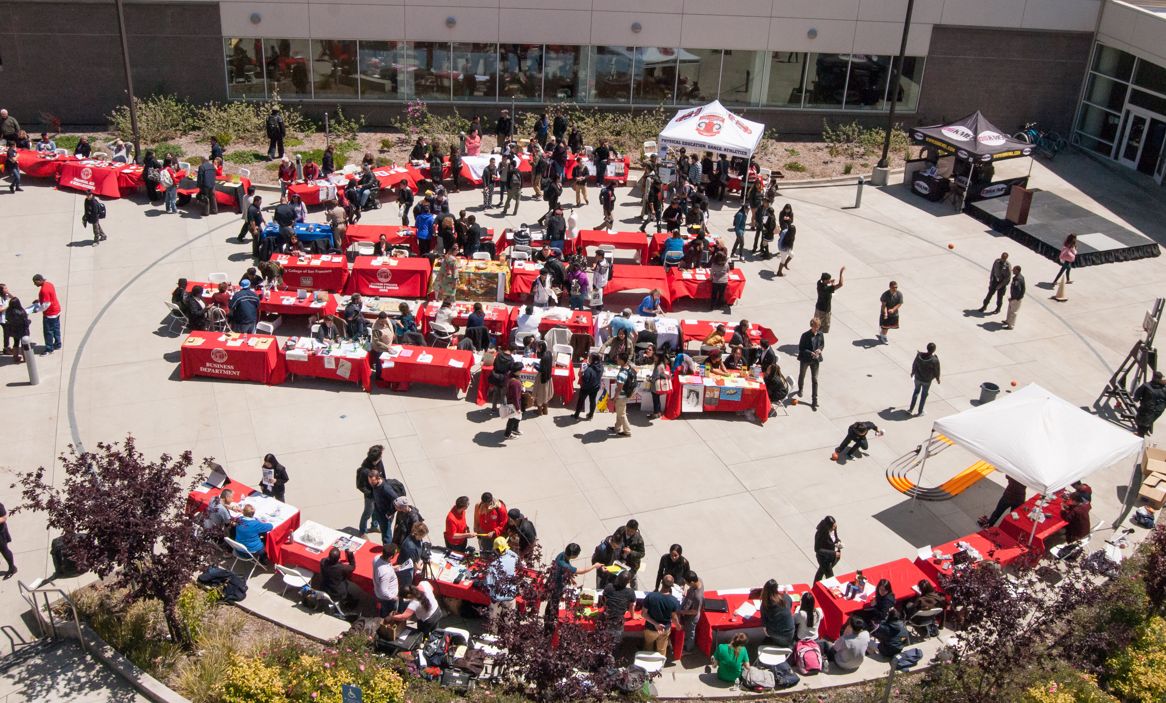 High school students from SFUSD schools participate in Frisco Day at the Amphitheater,  Ocean Campus on Friday, April 24.  (Photo by Franchon Smith)