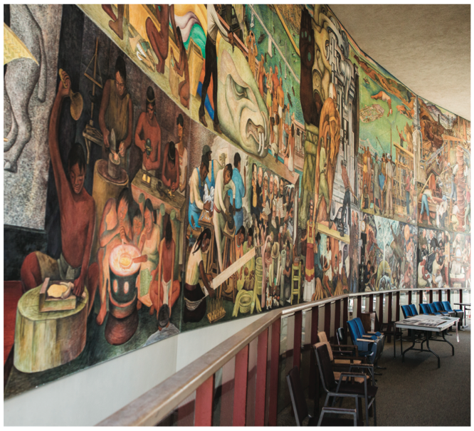 Former professor dedicates time to preserving mural the for Diego rivera pan american unity mural