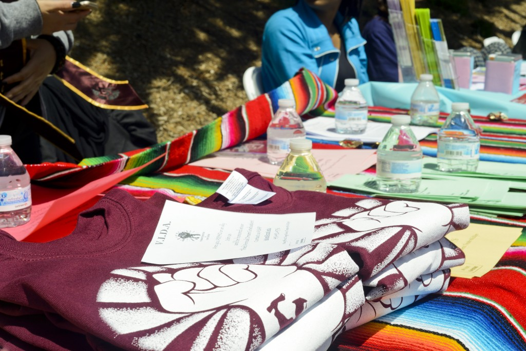 VIDA members participate on Frisco Day and give out information on how to finance your education as an undocumented student on Frisco Day at City College on Friday April 24, 2015.