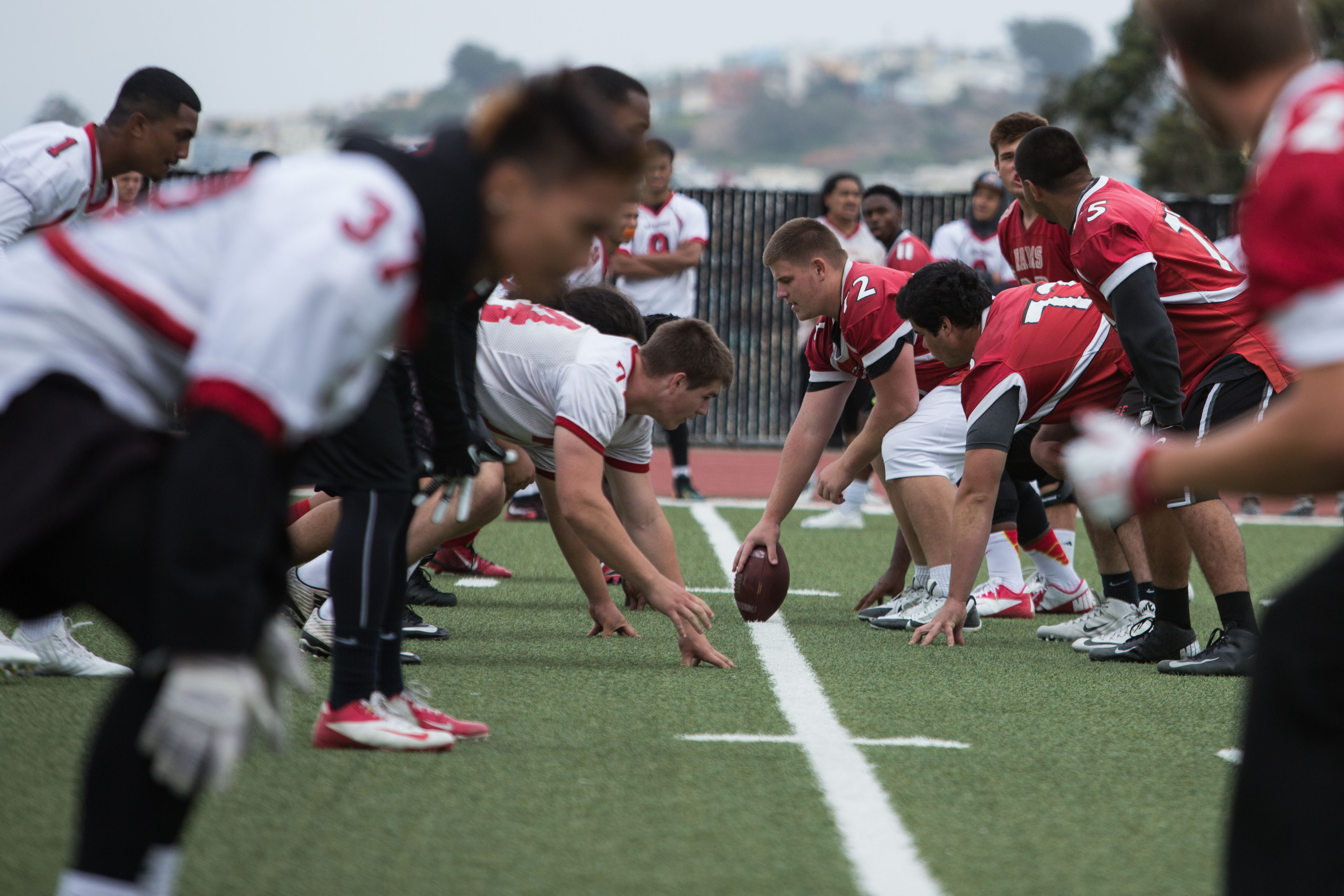The Rams practice for their upcoming football season at rams stadium on August 10. (Photo by Khaled Sayed)