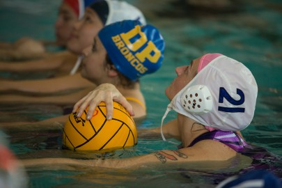 Women's Water Polo team practicing in the pool at Ocean Campus on Sept 11, 2015. ( Photo by Khaled Sayed/The Guardsman)