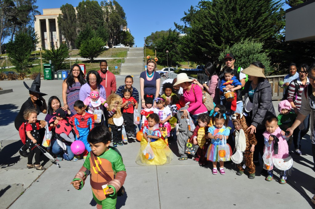 Children from the Family Resource Center gathered to go trick or treating around Ocean Campus on Friday, Oct. 30, 2015.