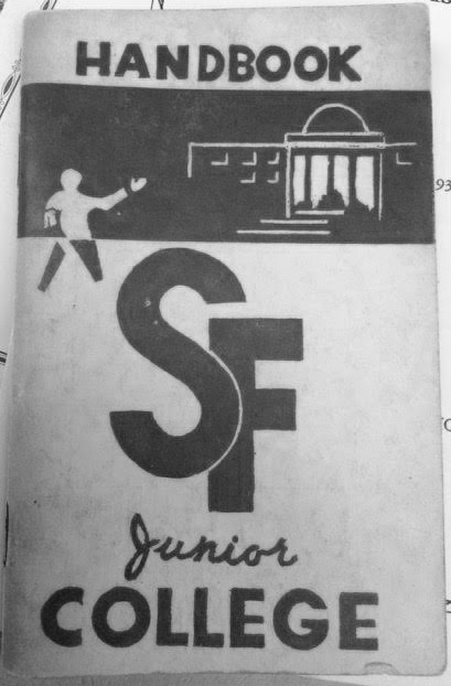 The San Francisco Junior College Handbook from the Fall Semester of 1947.