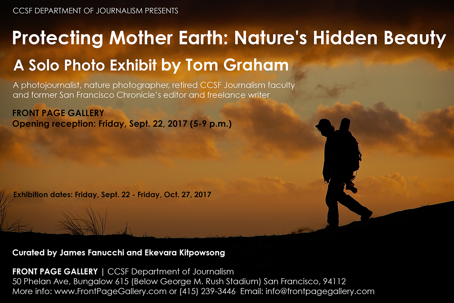Tom Graham Solo Photo Exhibit at Front Page Gallery