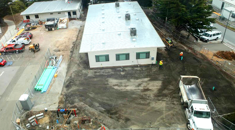 The new Child Development Center under construction on the former grounds of the Chancellor's office on June 17, 2016. The estimated completion date for the project is August 11, 2016 (Photo by Cassie Ordonio/The Guardsman)