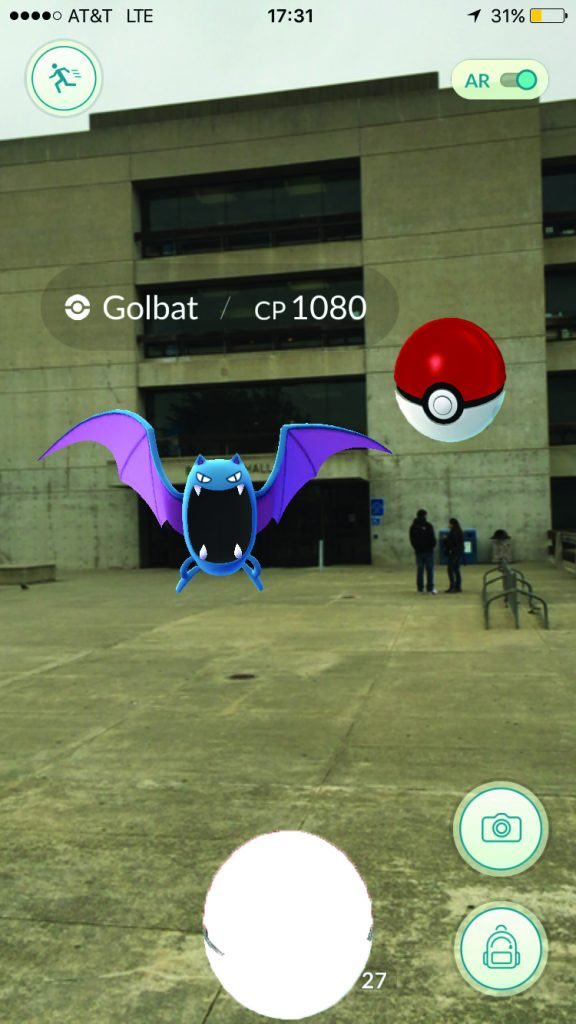A Golbat lurking outside Batmale Hall (Photo by Shannon Cole/The Guardsman)