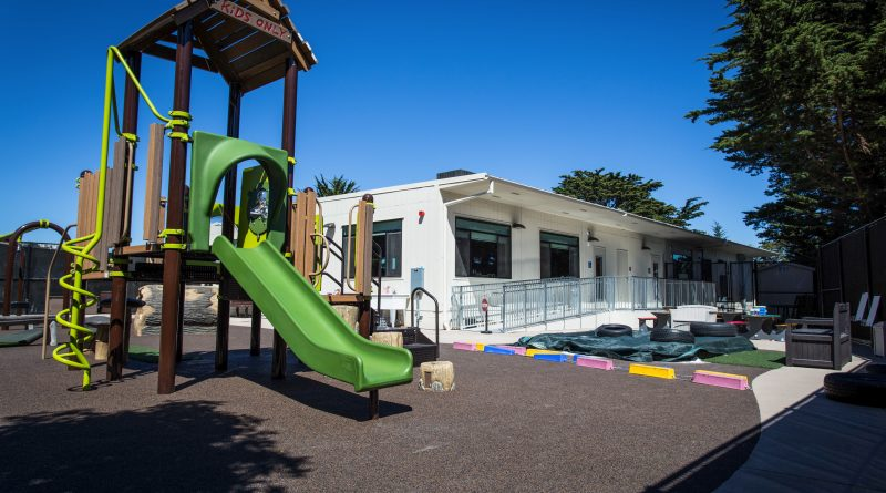 The new Child Development Center at Ocean Campus is located behind Rosenberg Library (Photo by John Ortilla/The Guardsman)