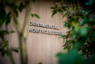 Ornamental Horticulture sign at the entrance of the boulding where the garden is located at Judson Avenue and Gennessee Street, San Francisco, Calif. on Wednesday 23, 2016. Photo by Gabriela Reni/ The Guardsman.