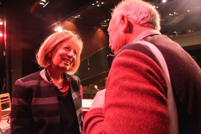 Congresswoman, Jackie Speier meet and greets with student, faculty and adminstration at City College's Public Forum held in the Diego Rivera Theatre on Nov. 28, 2016. (Photo by Cassie Ordonio