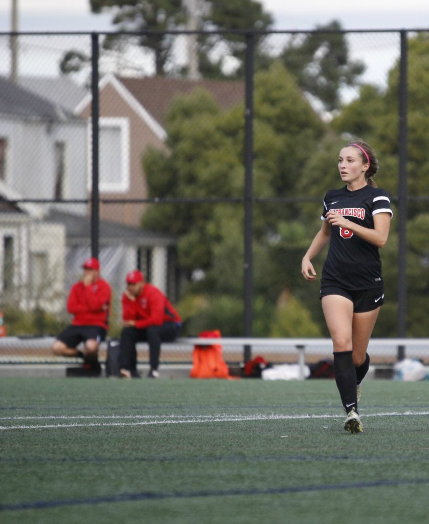 City College sophomore Jesse Bareilles on the field during the Rams' 3-1 win over Cabrillo College on Oct. 25, 2016. (Photo by Shannon Cole/The Guardsman)