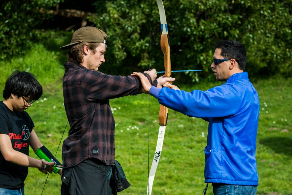 Each class has their own set of arrows. City College holds archery classes every Tuesday and Thursday. The classes have students of varying skill levels from novice to life long archers. Photo by Rachel Quinio