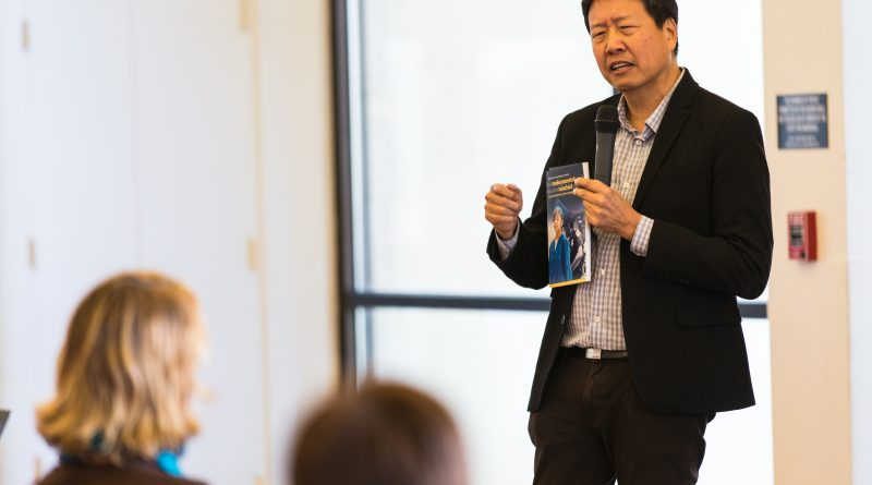 "Professor Kent Wong, director of UCLA Labor Center, at the City Cafe in City College on Feb. 28 speaks to students about the publication ""Immigrant Youth in the Silicon Valley"" and highlights the struggles of undocumented youths in the U.S. Photo by John Ortilla/The Guardsman."
