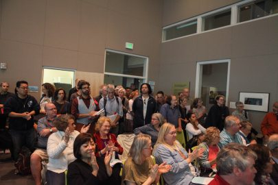 Faculty and student flood City College of San Francisco's Board of Trustees meeting on June 22, 2017 to voice their opposition of Mark Rocha becoming Chancellor.