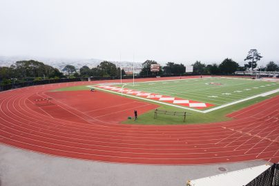 The brand new 500k track at City College of San Francisco. (Photo by Barbara Muniz.)