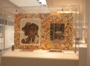 Paintings and Photographs inspired by different civil rights movements of the time located at Louise & Claude Rosenberg Jr. Library. Photos taken on Monday, August 28, 2017. in San Francisco, CA. (AP Photo/ Julia Fuller)