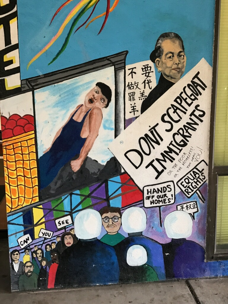 Student Union Mural, City College, highlights feelings of immigrant students in V.I.D.A. program. Thursday, September 14, 2017. San Francisco, CA. (Photo by Diane Carter.)