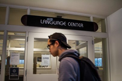 City College Language center located on the fourth floor of the Rosenberg Library on Ocean Campus. September 8, 2017. Photo by Gabriel Reni.