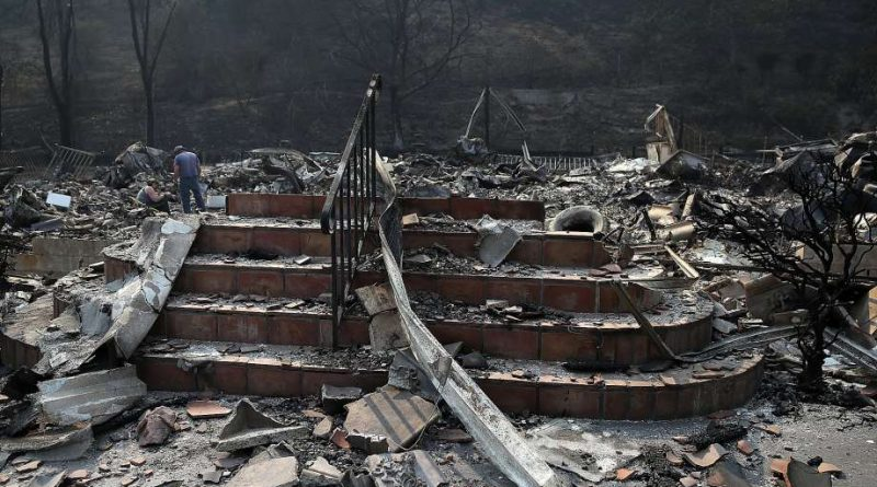 tairs remain at a home that was destroyed by the Atlas Fire on October 13, 2017 in Napa, California. Photo by Justin Sullivan, Getty Images.