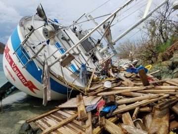 Post-hurricane damage in the U.S. Virgin Islands. Photo taken Oct. 2017 by Emma Graham-Winkles.