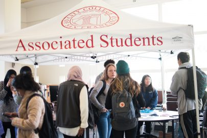 Associated Students' pavillion at Multicultural Day in Smith Hall at Ocean Campus. Photo by Otto Pippenger, Nov. 10, 2017.