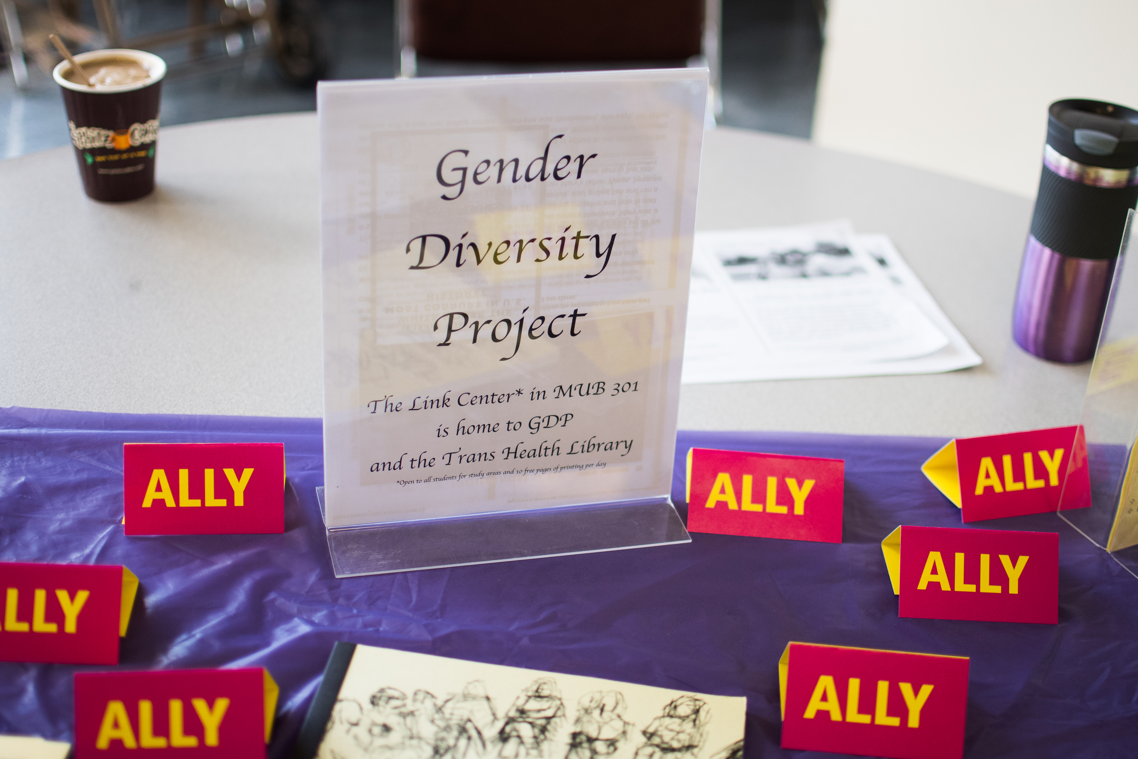 The display of City College's Gender Diversity Project at the Multicultural Day organized by Associated Students at City College's Ocean Campus in Smith Hall. Photo by Otto Pippenger Friday Nov. 10 2017.
