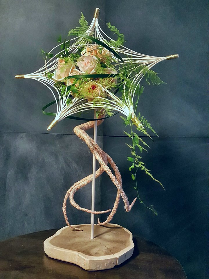 "Armando de Loera Mejia's winning floral design, ""Fantasy Rising Star."" Photo courtesy of Armando de Loera Mejia."