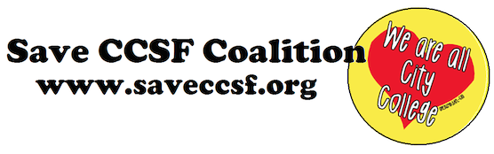 An open letter from Save CCSF Coalition